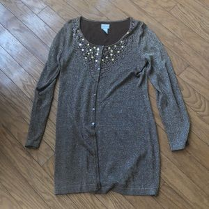 Chico's sparkly long sweater